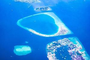 Flygfoto över Maldiverna foto