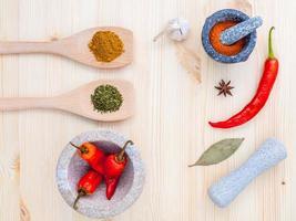 torkade kryddor koncept foto