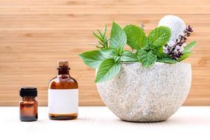 växtbaserade hälsovårdsprodukter foto