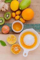 färskpressad apelsin juice