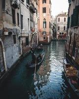 en gondol i Venedig, Italien foto