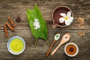 naturliga växtbaserade spa-föremål foto