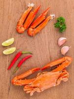 krabba på ett bord