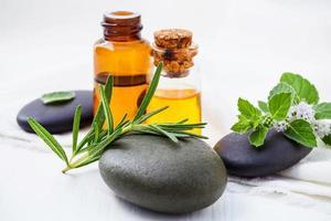 spa-behandling med aromaterapi foto