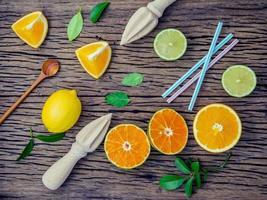 färskt citrusjuice koncept foto