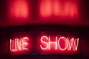 live show tecken foto