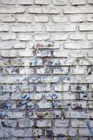 gammal tegelstenvägg foto