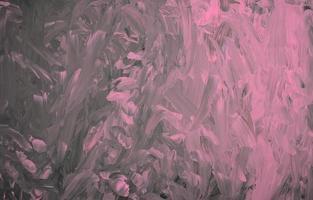 handgjord rosa pastell på svart akryl färg textur bakgrund foto