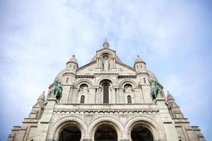 detalj av basilikan i det heliga hjärtat av Paris foto