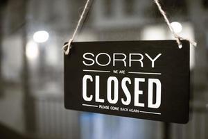 ledsen att vi är stängda tecken