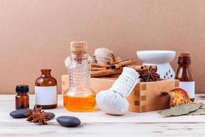 växtbaserad essentiell spa-behandling foto
