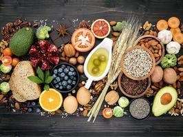 hälsosam kostingredienser foto