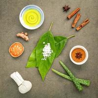 spa-ingredienser på tyg foto