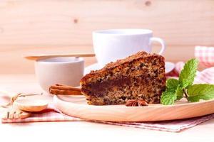 tårta med kaffe foto