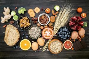hälsosamma ekologiska livsmedel foto