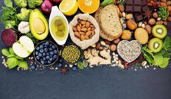 hälsosam mat med kopieringsutrymme foto