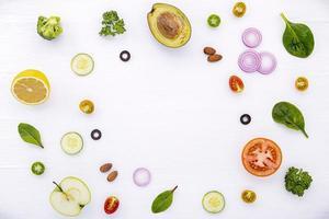 cirkel av mat foto