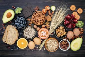 hälsosamma färska livsmedel foto