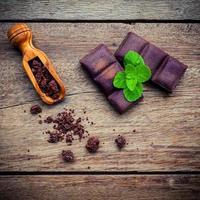 kaffe och choklad foto