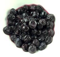 blåbär saftiga, massa, isolerad på vit bakgrund foto