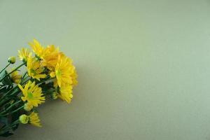 mamma blommor platt låg på grå vit bakgrund