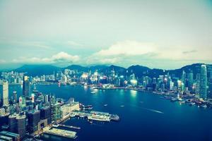 utsikt över Hong Kong City, Kina