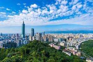 stadsbilden i Taipei, Taiwan foto