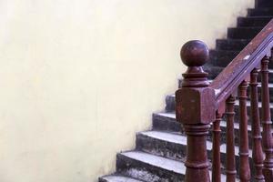 detalj av den gamla trappan