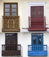 traditionella fönster från Cusco, Peru foto