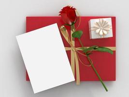 glad Alla hjärtans dag 3d framför dekorationer foto