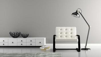 interiör med två svarta vaser i 3d-rendering foto