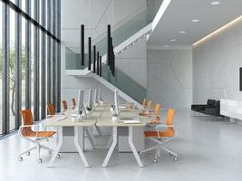 inre modernt öppet kontor i 3d-illustration foto