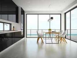 inre rum för modern design i tolkning 3d foto