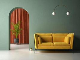 konceptuell inre rum 3d illustration foto