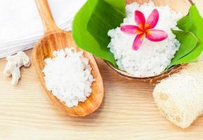 naturlig sockerskrubba foto