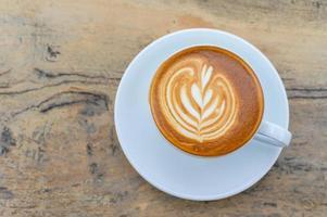 latte art kaffekopp foto