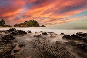 fyr av Lanta Island, Krabi, Thailand foto