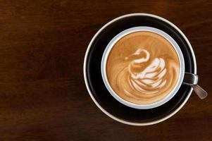 latte art kaffe foto