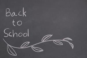 tillbaka till skolan och utbildningskonceptet svart tavla