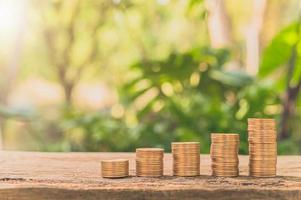 staplade mynt, ekonomisk tillväxt koncept