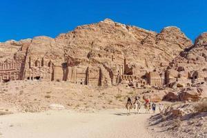 ruinerna vid Petra, Jordanien, 2018 foto