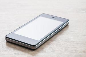 smartphone på vit bakgrund