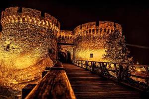 Kalemegdan fästning torn i Belgrad, Serbien foto