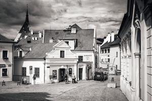 Tjeckien 2017 - vy över gatan Rooseveltova i Cesky Krumlov