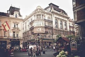 belgrad, serbien 2015-- vy av knez mihailova street foto