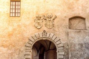södra Böhmen, Tjeckien 2019 - detalj av det berömda slottet Cesky Krumlov
