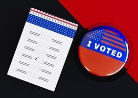 Jag röstade koncept foto