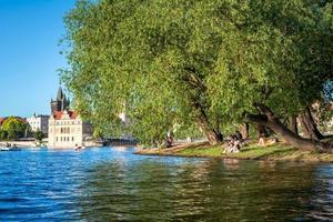 Prag, Tjeckien 2018 - människor njuter av en sommardag