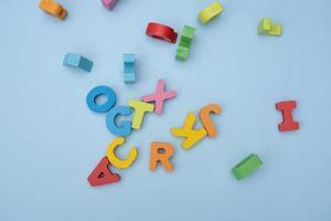 ovanifrån av bokstäver