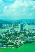 utsikt över Macau City, Kina